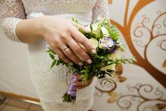 新娘现有量环形婚礼 图库摄影