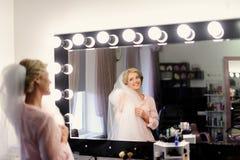 新娘的构成在婚礼之日 库存图片