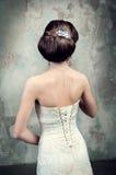 新娘的礼服的美丽的女孩 库存图片