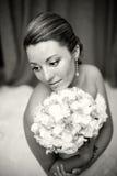新娘的纵向 免版税库存照片