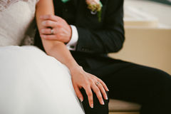 新娘相连新郎的现有量 库存照片