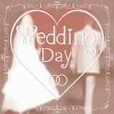 新娘看板卡开花婚姻问候的环形 库存照片