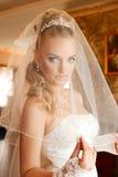 新娘穿戴面纱年轻人 免版税图库摄影