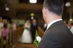 新娘等待 免版税库存图片