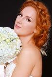 新娘红头发人 免版税库存照片