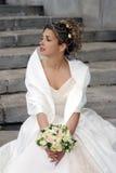 新娘纵向微笑 库存图片