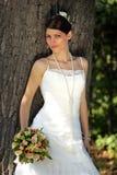 新娘纵向微笑 免版税库存照片