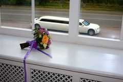 新娘美丽的花束 免版税图库摄影