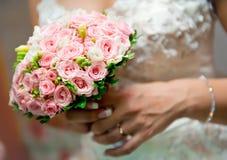 新娘美丽的花束 库存图片