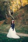 新娘花冠在森林里 免版税库存照片