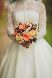 新娘花束开花特写镜头 库存图片