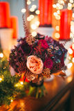 新娘花束开花特写镜头 库存照片