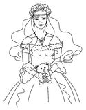新娘草图向量 库存照片