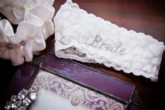 新娘袜带 免版税库存图片