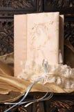 新娘袜带 免版税库存照片
