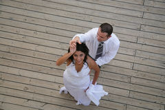 新娘跳舞新郎结婚 库存图片