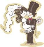 新娘运载的新郎婚礼 免版税图库摄影