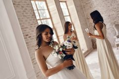 新娘迷住 免版税库存图片