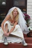 新娘逃亡 库存照片