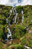 新娘面纱瀑布,斯凯岛,苏格兰,英国小岛  库存图片