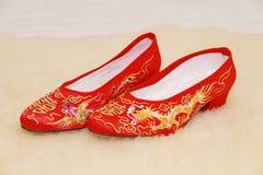 新娘鞋子 图库摄影