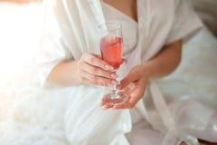新娘香槟玻璃藏品 关闭图片 图库摄影