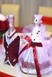 新娘香槟玻璃藏品婚礼 库存照片