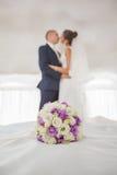 新娘仪式教会新郎婚礼 库存照片