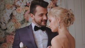 新娘仪式教会新郎婚礼 股票录像