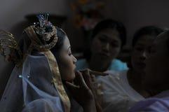 新娘组成 免版税图库摄影