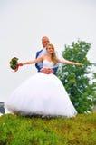 新娘&新郎已婚夫妇 图库摄影
