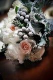 新娘` s婚礼花束 免版税库存照片