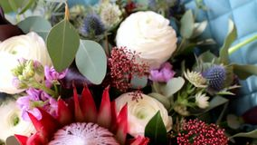 新娘` s花束 3花束重点前景婚礼 花束不同的花 花束新娘新娘新郎现有量 影视素材