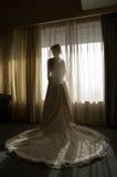 新娘silhoutte 库存图片