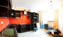 新家具的厨房 免版税库存图片