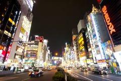 新宿在夜,东京,日本之前 免版税库存照片