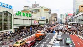 新宿小火车站 免版税库存照片
