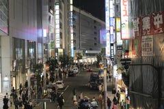新宿是位于东京大都会的一个特别病区 免版税库存图片