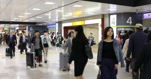新宿站的通勤者 影视素材