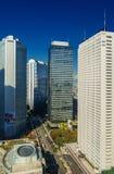 新宿财政区地平线 库存照片