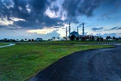 新山,马来西亚-双十国庆2017年:苏丹Iskan清真寺  库存图片