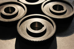 新工厂制作的齿轮 免版税库存图片