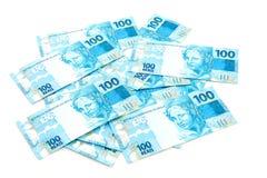 新巴西的货币 免版税库存图片
