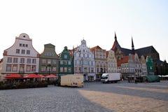 新市场在城市罗斯托克 免版税库存图片