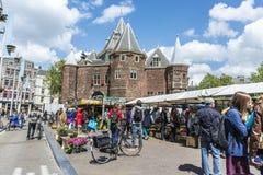 新市场在阿姆斯特丹,荷兰 免版税库存图片