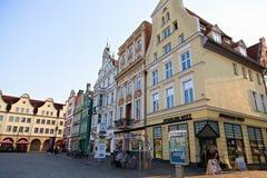新市场正方形在城市罗斯托克 免版税库存照片
