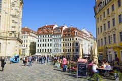新市场正方形的全视图,德累斯顿 图库摄影