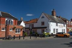 新市场街道,Beccles,英国,2019年6月 免版税库存图片