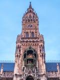 新市镇霍尔, Neues Rathaus,在慕尼黑,德国 库存照片
