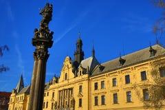 新市镇霍尔(捷克:Novoměstská radnice),老大厦,新市镇,布拉格,捷克 免版税图库摄影
